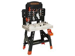 black+decker 71382 jr. mega power n' play workbench with realistic sounds!  52 tools & accessories