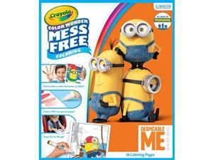 crayola color wonder despicable me coloring pad & mess free markers