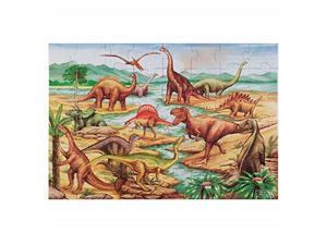 melissa & doug dinosaurs floor puzzle, extrathick cardboard construction, beautiful original artwork, 48 pieces, 2 x 3