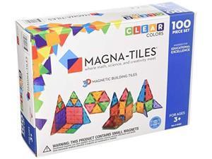 magnatiles 1517888 clear colors 100 piece set