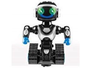 kids tech interactive robot  bump & go, light up, 90 arm movement toy, white
