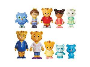 daniel tiger's neighborhood friends and family figure set 10 pack  exclusive