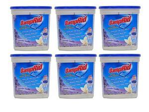 damprid moisture absorber lavender vanilla, 10.5oz pack of 6, white