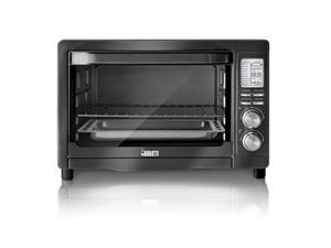 bialetti 35047 6slice convection toaster oven, black stainless steel