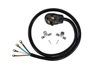 certified appliance accessories 4wire closedeyelet 30amp dryer cord, 4ft