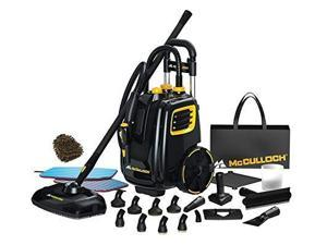 mcculloch mc1385 deluxe canister steam cleaner system, accessories brass brush heavyduty steamer complete set w/bonus: premium microfiber cleaner bundle