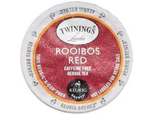 twinings of london rooibos red tea kcups for keurig, 24 count pack of 2