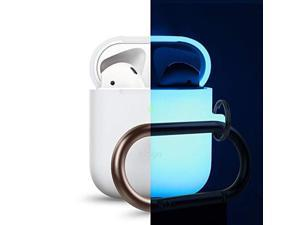 elago airpods hang case nightglow blue  compatible with airpods 2 & 1 ; front led visiblesupport wireless chargingairpods 2 fitting testedextra protection  for airpods 2 & 1
