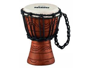 nino african style rope tuned djembe 4 1/2inch xx small water series