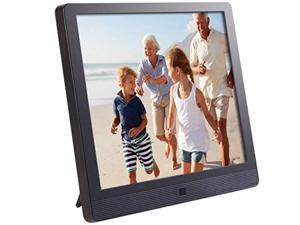 pixstar 10 inch wifi cloud digital picture frame with ips high resolution display, email, iphone ios and android app, dlna and motion sensor black