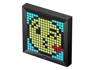 divoom pixoo digital frame with app controlled 16x16 led screen black