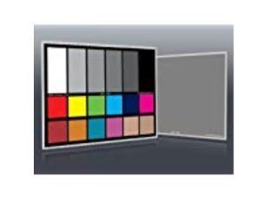 """dgk color tools dkcpro 5"""" x 7"""" set of 2 white balance and color calibration charts with 12% and 18% gray  pro quality  includes frame stand and user guide"""