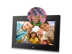 10inch digital photo frame black, hiresolution, various transitional effects, slide show,interval time adjustable, plug in a sd card or flash drive to access and display your photos.