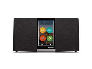"""sungale wifi internet radio w/ 4.3"""" easyoperation touchscreen, listen to your favorite music from thousands of internet radio station & streaming music"""