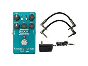 mxr m83 bass chorus deluxe pedal w/ 9v power supply and patch cables