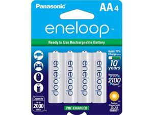 panasonic bk3mcca4ba eneloop aa 2100 cycle nimh precharged rechargeable batteries, 4 pack