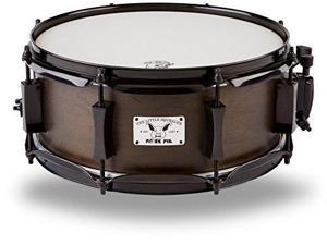 pork pie snare drum 5x12 little squealer black with black hardware