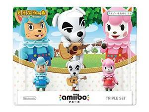 amiibo triple set kaizo / totakeke / lisa animal crossing series