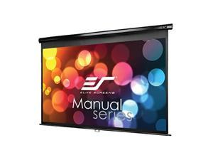 elite screens manual series, 106inch 16:9, pull down manual projector screen with auto lock, movie home theater 8k / 4k ultra hd 3d ready, 2year warranty, m106uwh