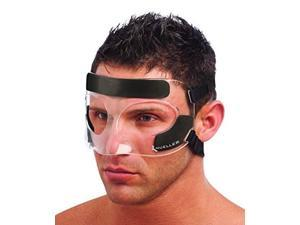 mueller face guard | protection from impact injuries to nose and face, clear, one size fits most
