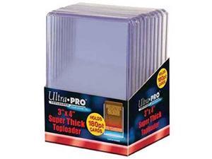 ultra pro 2 180pt top loader packs  10 toploaders per pack 20 total  thick baseball, basketball, hockey, football cards ie memorabilia