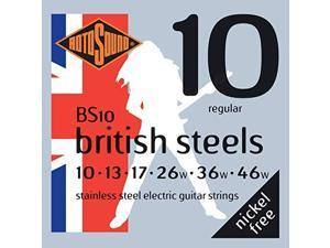 rotosound bs10 british steel electric guitar strings 1046
