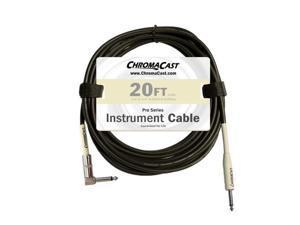 chromacast vanilla cream 20feet pro series instrument cable, anglestraight ccpscblsa20vc