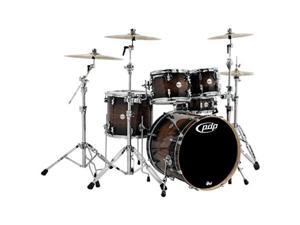 pacific by dw 5piece concept maple exotic shell pack charcoal burst over walnut