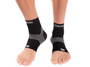 zensah plantar fasciitis sleeves pair  plantar fasciitis socks, arch support, plantar fasciitis brace  relieve heel pain, arch support, medium, black