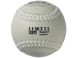 markwort color coded weighted 11inch softball 11ounce, grey