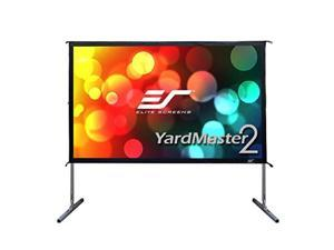 """elite screens yard master 2, 100 inch outdoor projector screen with stand 16:9, 8k 4k ultra hd 3d fast folding portable movie theater cinema 100"""" indoor foldable easy snap projection screen, oms100h2"""