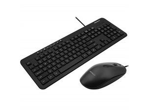 macally usb wired keyboard and mouse combo bundle for pc, desktop computer, laptop, notebook, chromebook  ultra slim keyboard mouse combo set, compatible with windows 10/8/7/vista/xp, etc.