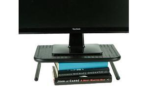 mind reader metal monitor stand, monitor riser for computer, laptop, desk, imac, black