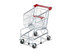 """melissa & doug toy shopping cart with sturdy metal frame, play sets & kitchens, heavygauge steel construction, 23.25"""" h x 11.75"""" w x 15"""" l"""