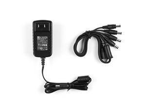 amcrest 4camera 12v power supply for 960h, 720p/1080p hdcvi, and analog security cameras black