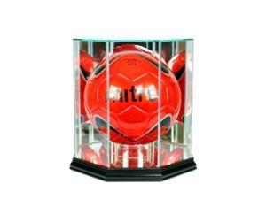 perfect cases mls octagon soccer ball glass display case, black