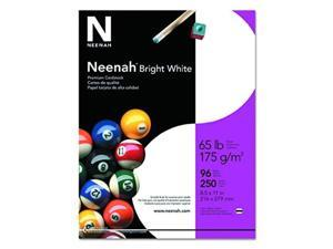 neenah bright white cardstock, 81/2 x 11 inches, 65 lb, pack of 250