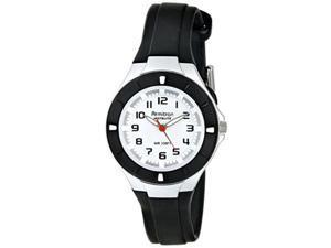 armitron sport women's 25/6416blk easytoread dial black resin strap watch