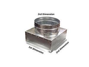 cbox hvac plenum ceiling box 12 x 12 x 8 roundconnects to vent register diffuser