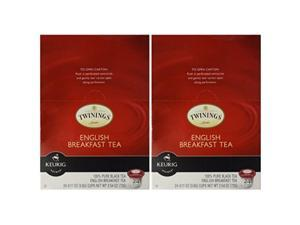 twinings of london english breakfast tea kcups for keurig, 24 count pack of 2
