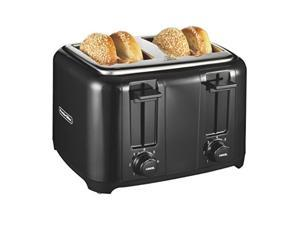 proctor silex 24215 toaster with wide slots & toast boost, 4slice, black