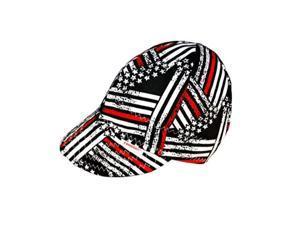 Comeaux Caps Reversible Welding Cap Police Flag Size 7 7//8