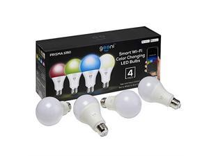 Geeni GN-BW944-999 Smart WiFi LED RGB A21 Light Bulb with Amazon Alexa & Google Assistant Compatibility - 4 pack