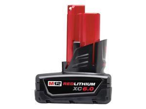 milwaukee 48112460 m12 redlithium xc6.0 extended capacity battery pack