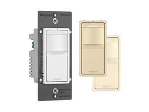 legrand  pass & seymour radiant rrw600utc single pole/3way occupancy sensor, tricolor includes 3 interchangable face covers: white, ivory, light almond