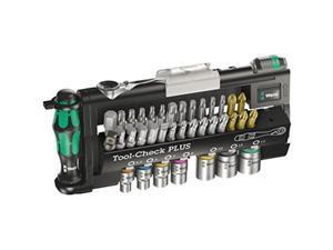wera 056490 toolcheck plus bit ratchet set with sockets  metric