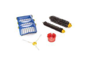irobot authentic replacement parts roomba 600 series replenishment kit 1 bristle brush, 1 beater brush, 1 spinning side brush, 3 aerovac filters, and 1 round cleaning tool
