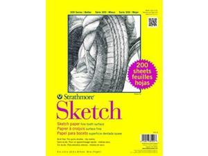 """strathmore 3519 300 series sketch, 9""""x12"""", 200 sheets per class pack"""