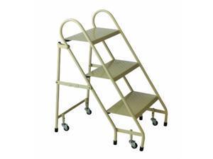 cramer 113019 steel folding ladder, beige