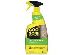 goo gone grout & tile cleaner  28 ounce  removes tough stains dirt caused by mold mildew soap scum and hard water staining  safe on tile ceramic porcelain